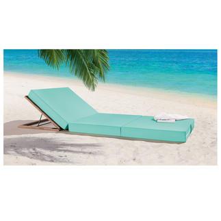 Matelas de plage Jan Kurtz M80 ou Dossier en bois robinier Se relaxer en toute élégance comme sur les matelas d'un club de la plage de Pampelonne.