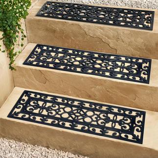 Plaques de protection d'escaliers, lot de 3 Une protection élégante et sécurisée pour vos escaliers extérieurs. Aspect en fer forgé très attrayant.