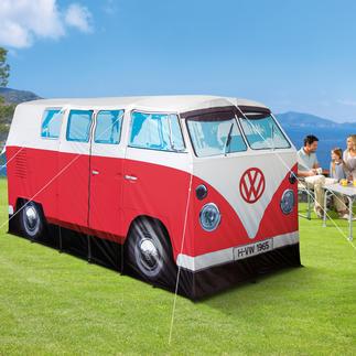 Tente de camping La star de tous les campings : la tente Bulli originale, représentant le légendaire Combi T1 de 1965.