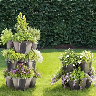Porte-plantes à étages Opulente décoration florale sur un tout petit espace. Convient aussi pour planter des fraises, des aromates.