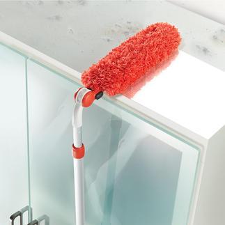 Attrape-poussière télescopique ou Épousseteur à main Le meilleur plumeau attrape-poussière qui soit : extensible et réglable sur 7 positions