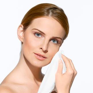 Serviettes pour soins du visage ou du dos « Micro peeling » Des microfibres ultrafines pour le soin profond et le lissage de votre peau.