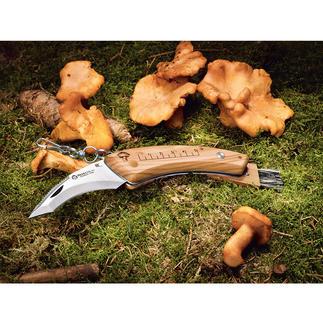 Couteau à champignons Maserin Le couteau à champignons rabattable. Manche en bois d'olivier luxueux, ultra résistant. Forme ergonomique.