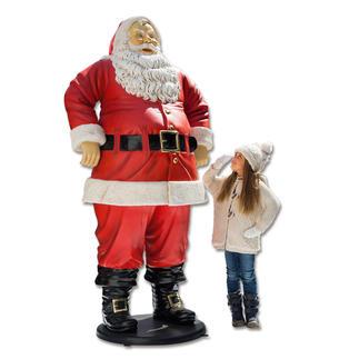 Santa Un beau point de mire : le Père-Noël d'1,88 mètre qui résiste aux intempéries.