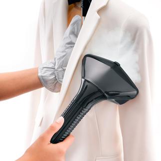 Défroisseur vapeur de luxe Plus rapide et professionnel qu'un fer à repasser. Lisse les plis et réduit les odeurs.