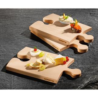 Planchette puzzle Point de mire de votre buffet, elle remplacera les assiettes lors de vos fêtes. Bois de hêtre massif.
