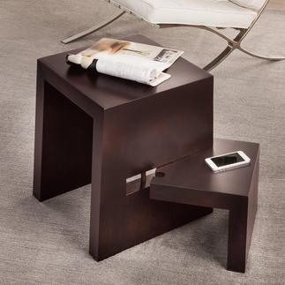 Tabouret-escabeau design Tabouret génial avec angle de rotation de la marche de 180°. Idéal comme table d'appoint, siège et escabeau.
