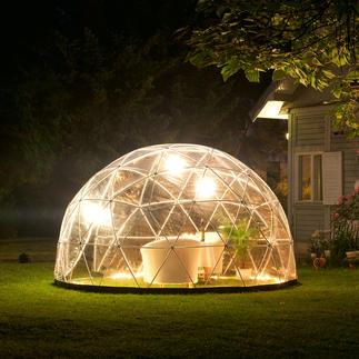 Igloo de jardin, kit de base avec film Vous protège du vent & des intempéries. Maison & serre de jardin mobile. Quartier d'hiver de vos plantes.