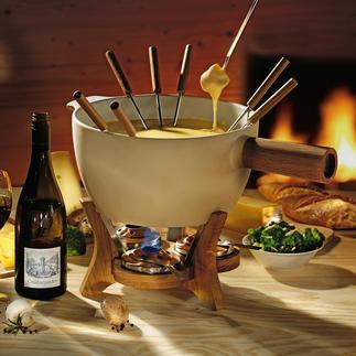Service à fondue Boska Service à fondue au fromage XXL pour 4 à 12 personnes. Très stable,maintient & répartit idéalement la chaleur.