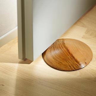 Butée de porte en teck La solution élégante pour caler les portes. Une forme géniale avec sa surface bombée. Chaque pièce est unique.