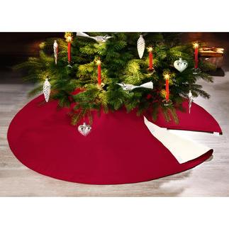 Couverture de Noël difficilement inflammable Une protection fiable contre les flammes, la cire et la résine. Et un tissu décoratif où placer vos cadeaux.