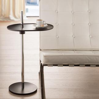 Table d'appoint Olivo Pivotante à 360°. Hauteur réglable en continu. Avec un mécanisme génial à ressort à lames.