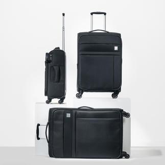 Valise trolley en nylon dobby par Oconi Nylon dobby robuste. Design élégant. Détails pratiques. Nombreux rangements.