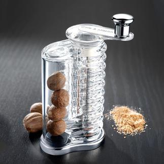 Moulin à muscade Cole & Mason Fonctionne avec 4 lames (au lieu des habituelles 2). Permet de conserver près de 5 noix de muscade.