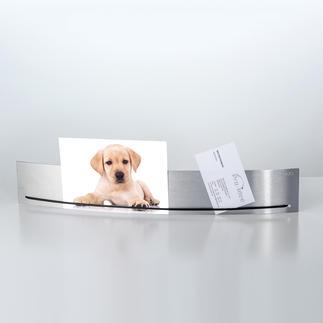 """Réglette photos """"Hold it"""" Design épuré élégant : la réglette en acier inoxydable pour photos, croquis, notes…"""