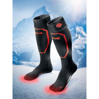 Chaussettes chauffantes avec piles ou sans pile, la paire S'adapte à toutes les chaussures. Chauffe jusqu'à 14 heures. A piloter via bluetooth.