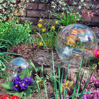 Bulle de savon en verre Magnifique bulle de savon pour l'éternité – en verre irisé. Usages multiples, à l'intérieur et à l'extérieur.