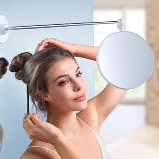 Miroir Twistmirror Enfin un miroir fait pour se maquiller et se coiffer. Grossissement 6x. Ventouse pour tous les supports lisses.