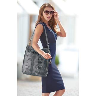 Sac en cuir « look croco » Un sac en cuir au multiple style tendance, à un prix vraiment charmant !