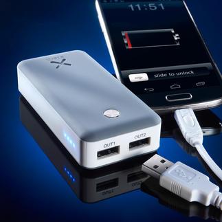Powerbank Xtorm Air 6.000 ou Xtorm Powerbank Free 15.000 Pour charger simultanément 2 mobiles. Haut débit. Efficace, même avec des tablettes énergivores.