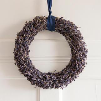 Couronne de lavande ou Bouquet de lavande Tout le charme de la Provence : décoration de porte et de table nouée à la main, en véritable lavande.