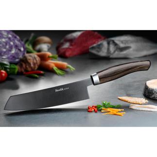 Couteau de cuisine Nesmuk JANUS avec manche en ébène La symbiose parfaite de la haute technologie et du savoir-faire artisanal. Le couteau des chefs cuisiniers.