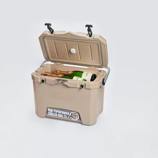 Boîte isotherme 4 jours avec sonde de température Maintient les boissons etc. au frais jusqu'à 4 jours. Sans électricité. Même en températures dehors de 32 °C.