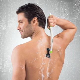 Rasoir corps à double tête Le premier rasoir humide pour le corps avec 2 têtes de rasage : plus rapide et plus efficace.