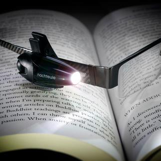 Lampe de lecture LED sur batterie « oiseau de nuit » Parfait pour la lecture, pendant un trajet en train ou pour une balade nocturne avec le chien.
