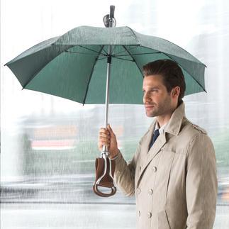 Parapluie canne-siège Trois fonctions en un accessoire :parapluie, canne élégante et siège confortable.