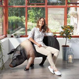 Cochon d'assise Spectaculaire, à l'intérieur comme à l'extérieur, en tant que décoration, desserte ou assise amusante.
