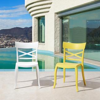Chaise design intérieur/extérieur Stylée, accueillante et résistante aux intempéries : la chaise parfaite pour l'intérieur et l'extérieur.