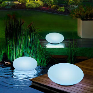 Galet lumineux solaire Le galet lumineux illumine votre jardin de plusieurs couleurs en alternance ou dans votre couleur favorite.