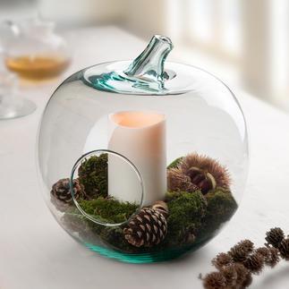 Pomme décorative en verre Saladier de service, rangement, objet déco, photophore...