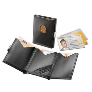 Portefeuille Exentri® Smart Wallet L'étui à cartes avec double accès rapide. Se range dans une poche de pantalon ou de veste.