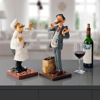 Figurine Forchino Cuisinier ou le connaisseur en vin L'art de mettre en image les métiers avec une touche d'humour et ironie.