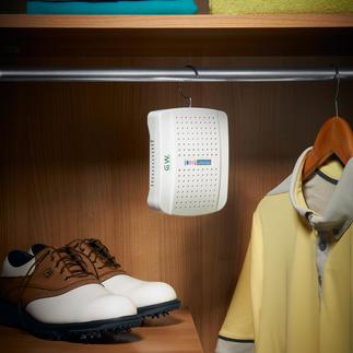 Déshumidificateur compact avec indicateur Protège vos vêtements, chaussures et équipement de sport ... de l'humidité et des moisissures.