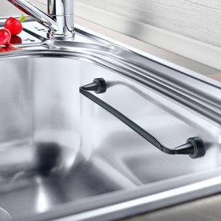 Porte-lavettes aimanté S'adapte à toutes les vasques et adhère de façon magnétique. Même en angle.