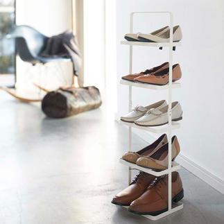 """Etagère à chaussures portable """"Tower"""" Elégante. Claire. Mobile. Rangez 5 paires de chaussures sur la surface prévue pour une seule paire."""