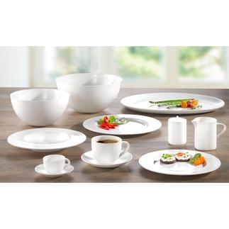 Vaisselle en porcelaine Bone China « À-Table » Dressez votre table avec la porcelaine de première classe de la compagnie SWISS Air.