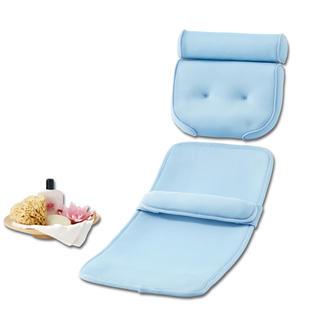 Lot confort pour le bain, appuie-tête + matelas Parfaitement rembourré et imperméable à l'eau. Support pour la tête, la nuque, les épaules, le dos, etc.
