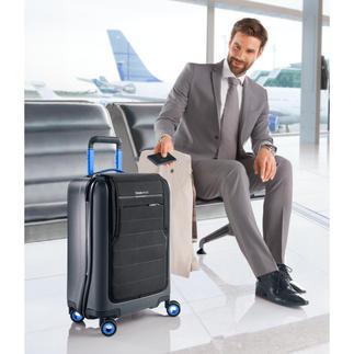 Valise à roulettes Bluesmart high-tech Avec protection électronique contre le vol & la perte, GPS, cadenas TSA. Balance bagage & power-bank intégrés.