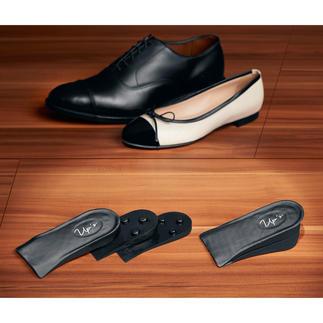 Talonnettes push-up Permet de rallonger jusqu'à 4,7 cm de façon invisible. Adaptées à presque toutes les chaussures et occasions.