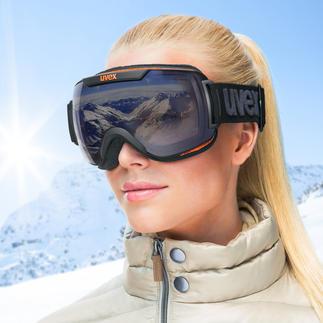 Masque de ski Uvex Variomatic®-Polavision® Se teinte automatiquement et protège efficacement de l'éblouissement.