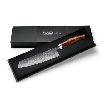 Couteau de cuisine damassé Nesmuk EXKLUSIV C90 L'esthétisme et la résistance à l'usure d'un couteau damassé forgé à la main. Resiste à la corrosion.