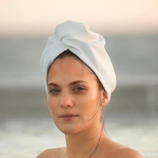 Turbain Aquitex® Séche vos cheveux beaucoup plus rapidement qu'une serviette en éponge. Moins agressif qu'un sèche-cheveux.