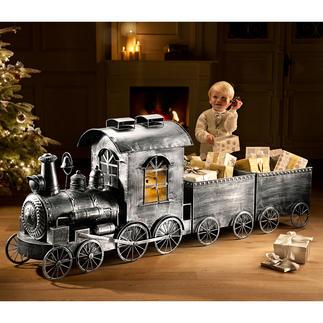 Locomotive ou Wagon rétro En aluminium, aspect ancien. Parfait pour Noël, les fêtes spéciales, les réceptions, déco pour toute l'année.