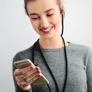 Ecouteurs tendance Accessoire mode stylé : les écouteurs avec collier à la place d'un câble.