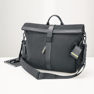Besace « messenger » Moleskine® by Bric's Design stylé. Nombreux équipements parfaitement pensés. Très agréable à porter, même lourdement chargé.