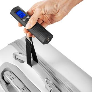 Pèse-bagages numérique avec batterie Pèse-bagages numérique, chargeur powerbank et lampe de poche – le tout dans 200 grammes.